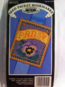 Seed Packet Bookmarks Counted Cross Stitch Kit Pansy