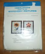 Vintage Highland's Sunflower Stitchery Kit