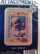 Magnetic Frame Embroidery Kit Baby Cuddles 8.9cm X 13cm