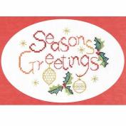 Derwentwater Designs Seasons Greetings Card Cross Stitch Kit