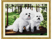 Happy Forever Cross Stitch, Animals,The panda dog