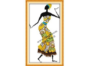 Happy Forever Cross Stitch,Figure, African amorous feelings 5