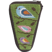 Stitch & Zip Needlepoint Scissor Case-SZ926 Birds of Colour