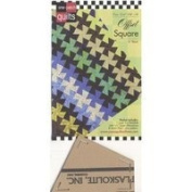 Come Quilt with Me Template - Offset Square 15cm