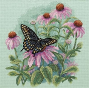 Dimensions Butterfly & Daisies Counted Cross Stitch Kit 28cm x 28cm 35249