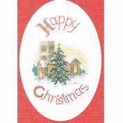 Derwentwater Designs Midnight Mass Christmas Card Cross Stitch Kit