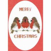 Derwentwater Designs Robin Trio Christmas Card Cross Stitch Kit