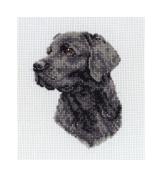 Maia Black Labrador Mini Counted Cross Stitch Kit 4 3/4'X3' 18 Count