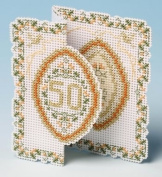 The Nutmeg Company Golden Anniversary Card 3D Cross Stitch Kit