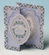 The Nutmeg Company Silver Anniversary Card 3D Cross Stitch Kit