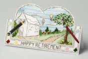 The Nutmeg Company New Beginnings Retirement Card 3D Cross Stitch Kit