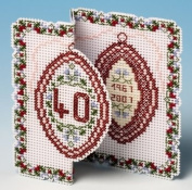 The Nutmeg Company Ruby Anniversary Card 3D Cross Stitch Kit