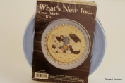 Whats New Inc. FLORAL KITTY 018101 Cross Stitch Kit, BLUE Decorative Tin