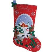 Bucilla Felt Stocking Applique Kit, 46cm
