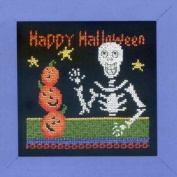 Happy Skeleton - Beaded Cross Stitch Kit by Debbie Mumm DM303101