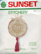 Sunset Stitchery Flowers and Lace Noel 3D Christmas Ornament ~ Designed by Nancy Rossi