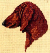 Pegasus Originals Dachshund Red Counted Cross Stitch Kit