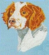 Pegasus Originals Brittany Spaniel Counted Cross Stitch Kit