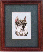 Pegasus Originals Miniature Schnauzer Counted Cross Stitch Kit