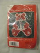 Christmas Jingles Needlepoint Bear Pin Kit