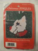 Christmas Jingles Needlepoint Reindeer Ornament Kit