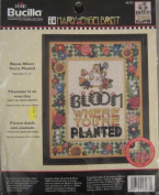 Cross Stitch Bloom Where You're Planted counted Mary Engelbreit plaid Bucilla