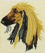 Pegasus Originals Afghan Hound Counted Cross Stitch Kit