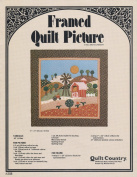 Framed Quilt Picture Kit By Quilt Country