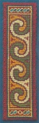 Textile Heritage Counted Cross Stitch Bookmark Kit - Celtic Spiral Dark
