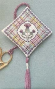 Textile Heritage Scissor Keep Cross Stitch Kit - Tartan Thistles