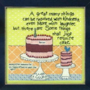 Cake Required - Beaded Cross Stitch Kit - Curly Girl Designs CG303104