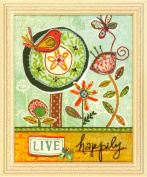 Dimensions Crafts Live Happily Embroidery and Applique Kit