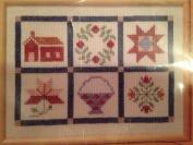 The Creative Circle 1648 Autumn Quilt Block Sampler 30cm X 41cm