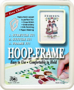 "Easy Street Crafts SF810C ""Square"" Hoop-Frame, 2 Parts, 20cm by 25cm , Cream"