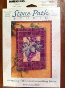 Grapes with Vine and Leaves Counted Cross Stitch 13cm X 18cm