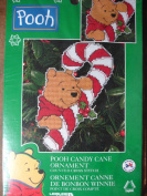 """Disney's """"Pooh Candy Cane Ornament"""" Counted Cross Stitch Kit"""