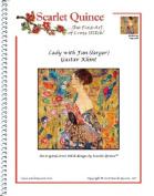 Lady with Fan (larger) - Gustav Klimt