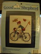 Good Shepherd Counted Cross Stitch Kit, Vintage, The Biker 23cm x 25cm