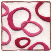 """""""Love Loops"""" crewel embroidery kit by Wool & Hoop"""