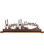 Ackfeld 30cm Happy Halloween Metal Wall Craft Quilt Textile Holder Hanger