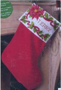 Poinsietta & Berries 46cm Stocking