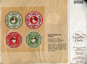 The Creative Circle Country Goose Holiday Jar Toppers Stitchery Kit