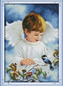 Happy Forever Cross Stitch, figure, the little angel, boy