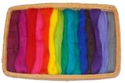 46cm - 15 colour fine wool roving- 150ml