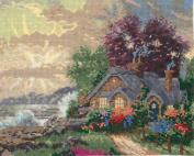 Candamar Thomas Kinkade Counted Cross Stitch Kit - New Day Dawning