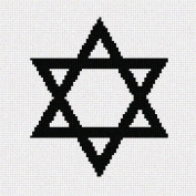 Jewish Star Needlepoint Canvas