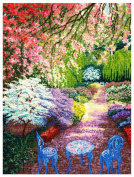 M C G Textiles Cherry Blossoms Counted Cross Stitch Kit-41cm x 30cm 16 Count