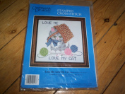 Love Me Love My Cat Stamped Cross Stitch Kit Golden Bee