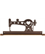 Ackfeld 41cm Sewing Machine Metal Wall Craft Quilt Textile Holder Hanger