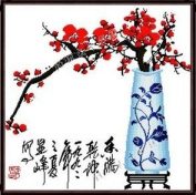 Happy Forever Cross Stitch, Flowers, The Plum Flower In The Blue And White Porcelain